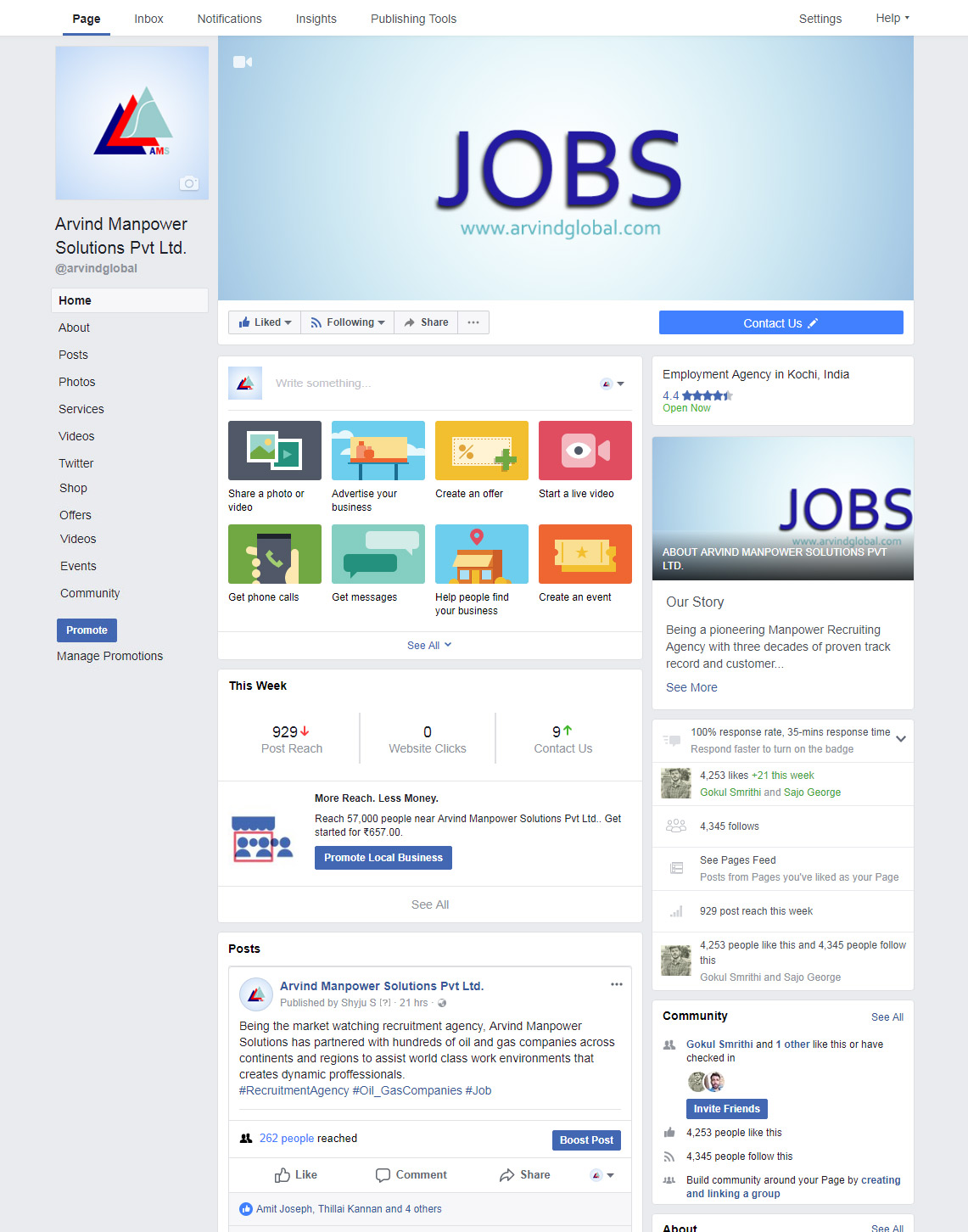 Arvind Global Best Manpower Recruiting Agency Kerala